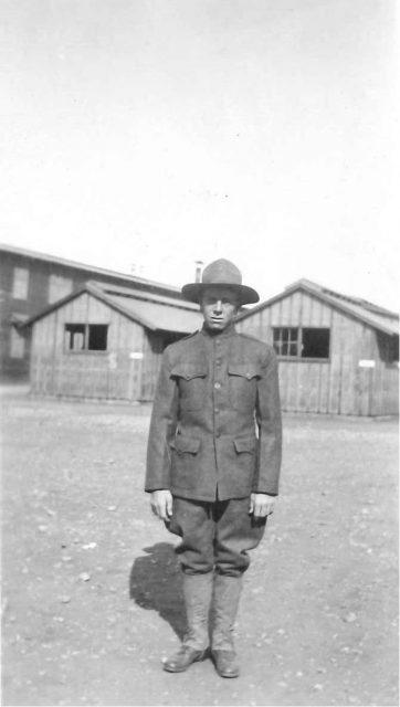 Leon Sinfield Richman in World War I, 1918, at Camp Lewis Washington