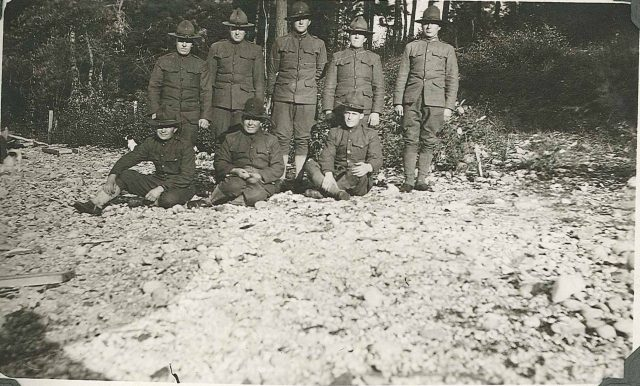 Leon in World War I, back row 2nd from right