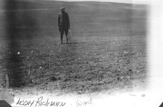 Leon in the field in WWI