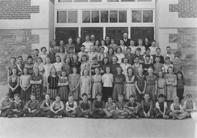 Lynn Richman, 6th grade, 1940-41, front row 5th from the left
