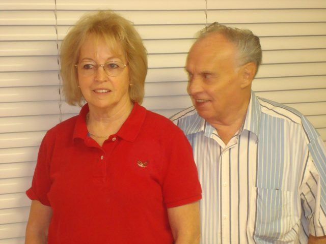 Lynn & Mary Richman at Lynn's 80th birthday party in 2008