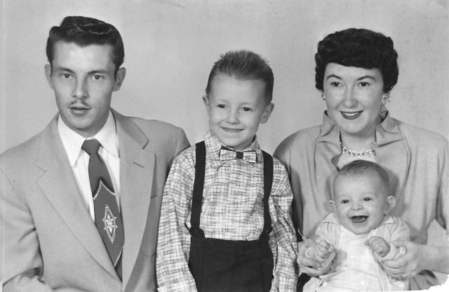 Lynn, Jeff, Joyce, Larry, December 1955