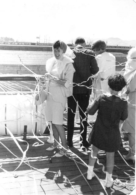 Joyce and Lynn cruise in March 1966