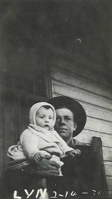 Lynn Richman and his dad Leon Richman, Feb 14, 1929