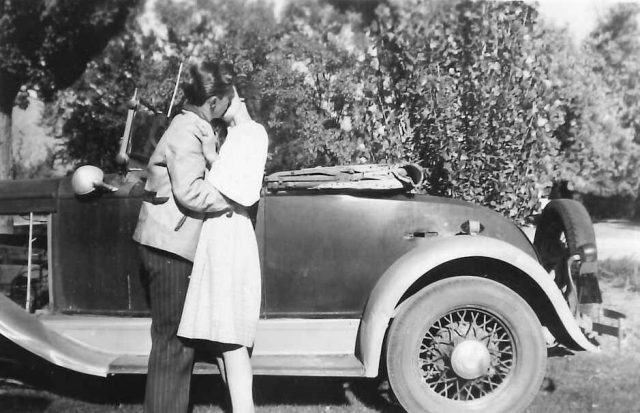 Lynn Richman's first car in September 1946, a 1929 Chevy Roadster