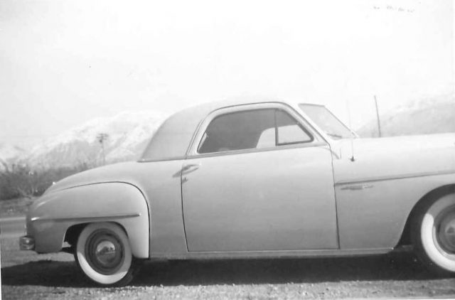 Lynn Richman's first new car, a 1949 Dodge Coupe, owned from 1949-51