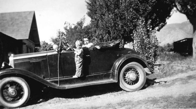 Lynn Richman and Mike Nelson in 1945-46 in his 1929 red Chevy Roadster