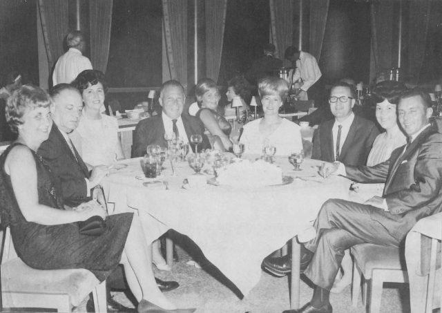 Lynn, Joyce, Glen, Jeannie at the Tropicana in Las Vegas on July 24, 1965