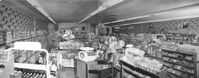 Inside of Lynn's Drive-in AG Market in Brigham City, Utah about 1952. See detail of <a href=