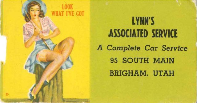 Business card for Lynn's Associated Service