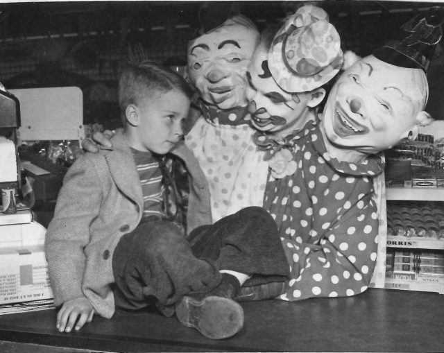 Clowns at the O.P. Skagg store
