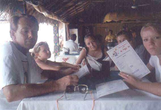 At a restaurant in Isla Mujeres, Mexico