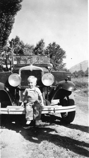 Mike on Lynn Richman's first car