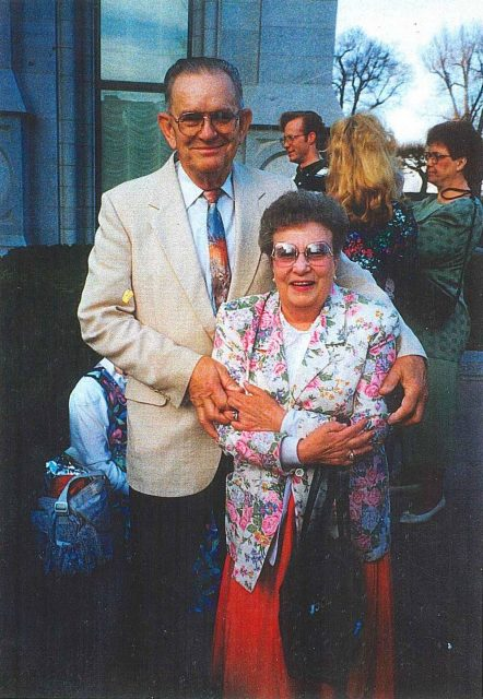Paul and Reta at Bryan's wedding in 1994