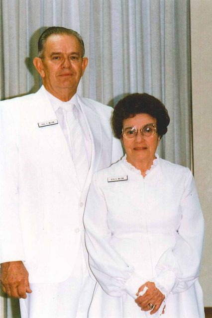 Paul and Reta Nelson, temple workers