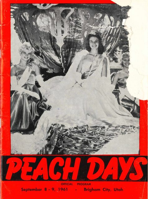 Karen Seely Peach Days Queen 1961, Brigham City, Utah. See <a href=