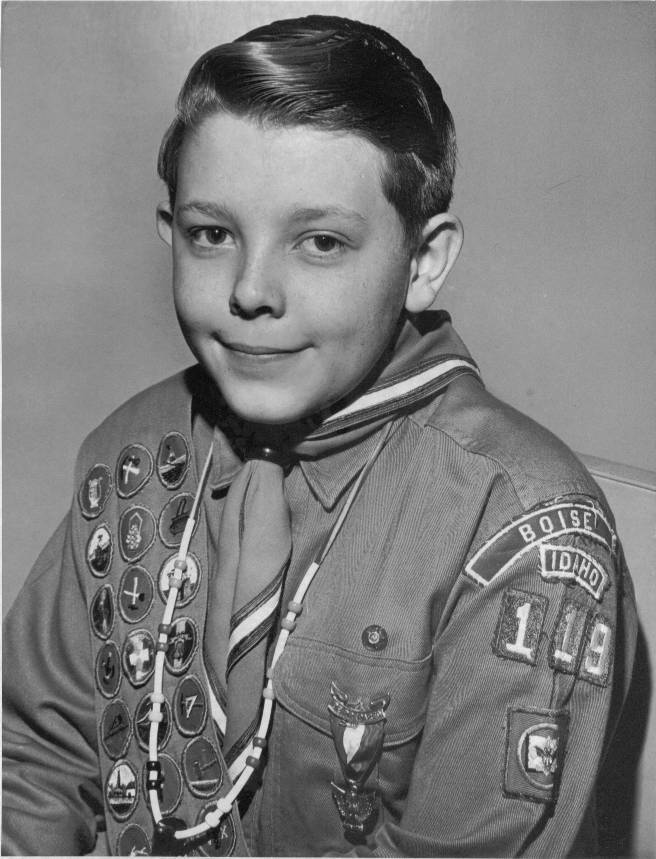 Larry Richman, Eagle Scout at age 13.5 years