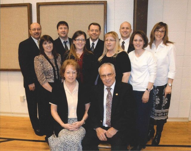 Richman family, March 29, 2010 at Reta's funeral