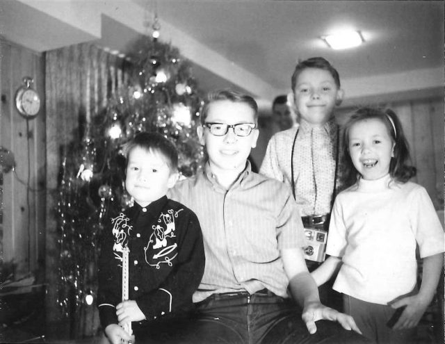 Rick, Jeff, Larry, and Joy Richman, December 1965