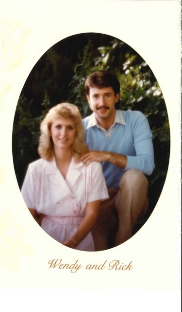 Wedding announcement Rick and Wendy Richman