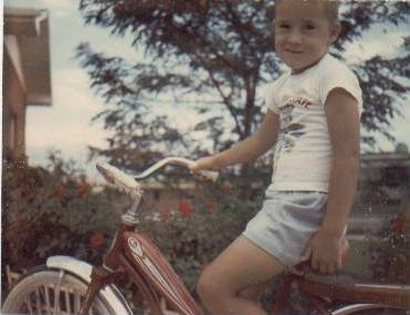 Rick on a bike, July 1966
