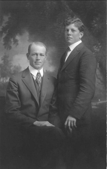 Leon with Russell Oldham at about age 18.