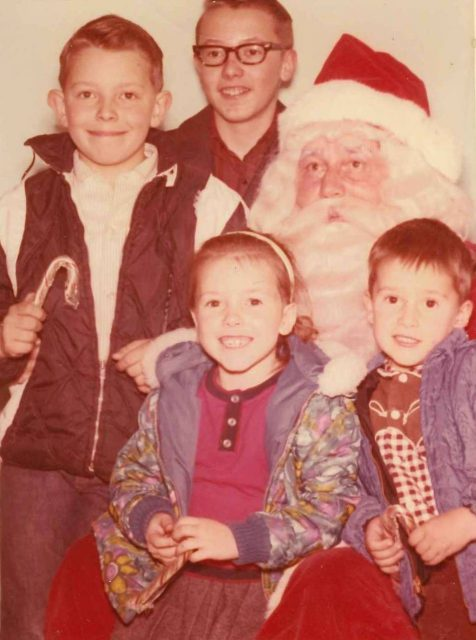 Joy, Rick, Larry, Jeff, and Santa