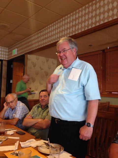 Lynn, Larry, Kent Seely at his 70th birthday dinner June 2014