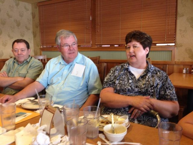 Larry, Kent, and Mary Seely at his 70th birthday dinner June 2014