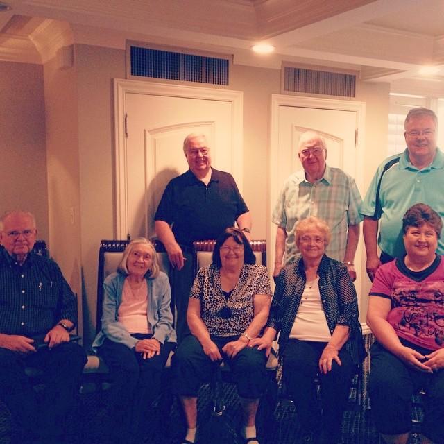 Seely siblings at Glens 85th birthday in 2014