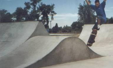 Skateboarding pictures at the skate park in Blackfoot, 2000