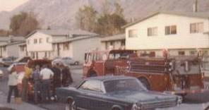 When Teri's car caught on fire in October 1976