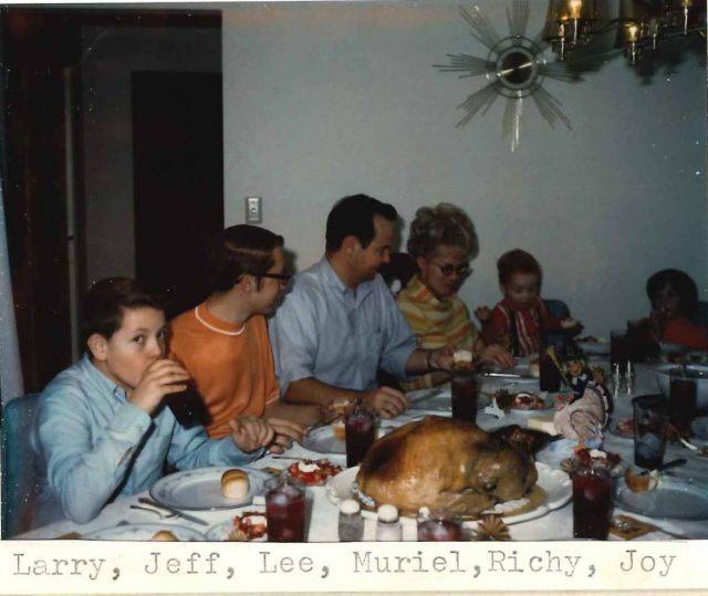 Thanksgiving in Boise. Larry, Jeff, Lee, Muriel, Richy, Joy
