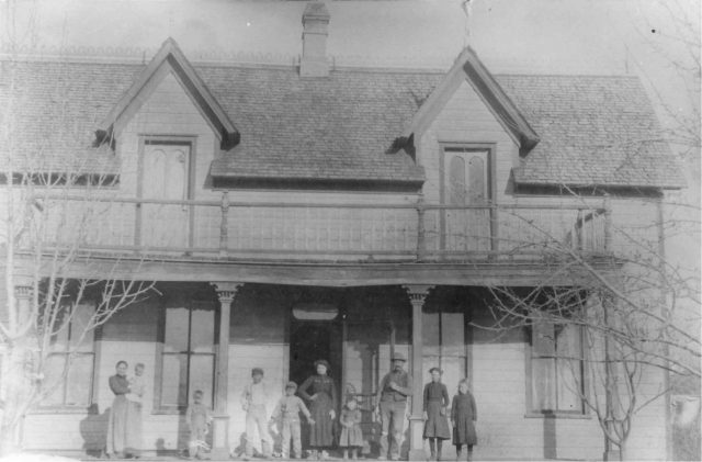 John Edward Thomas home, 1881-83 in Paradise, Utah. Leon Sinfield Richman's funeral was held in the parlor of this home.
