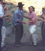 Lanae at youth conference pioneer trek, 2000