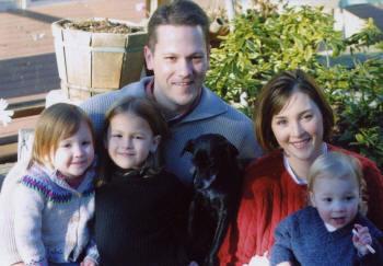 Jennifer, Spencer, Lauren, Rachel, Camryn, Bailey (dog), December 2005