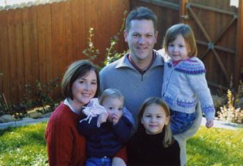 Jennifer, Spencer, Lauren, Rachel, Camryn, December 2005