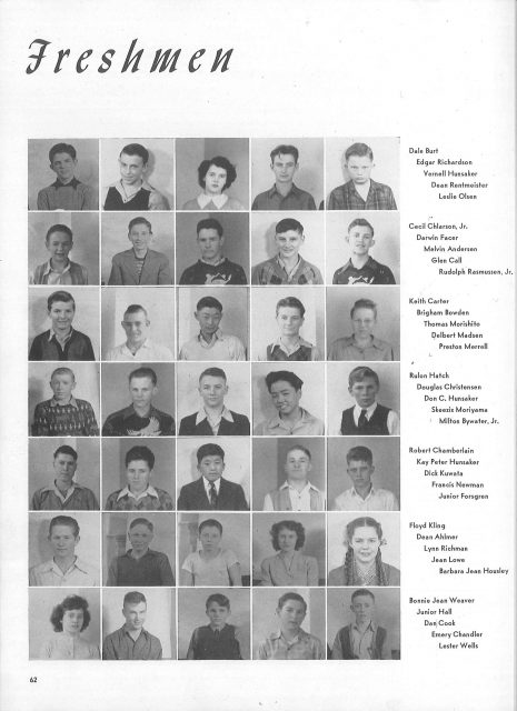 Lynn's yearbook in 1944, Freshman Year
