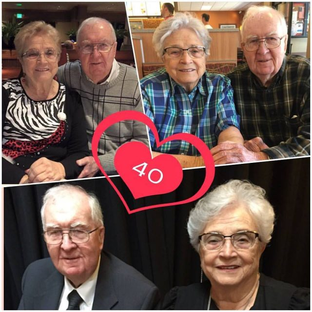 Glen and Nita Seely, 40th anniversary, September 2017
